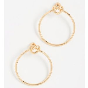 Kate Spade New York Love Me Knot Hoop Earrings NWT